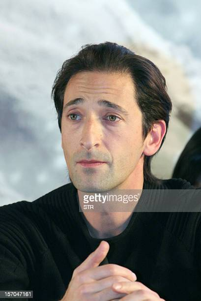 ChinaJapanhistoryfilmFOCUS by Sebastien Blanc This picture taken on November 25 2012 shows US actor and film producer Adrien Brody at the press...