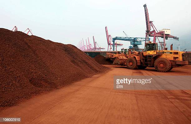 ChinaJapantechnologycommodities FOCUS by D'Arcy Doran In a picture taken on September 5 2010 a man driving a front loader shifts soil containing rare...