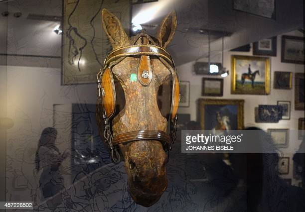 ChinaluxurypoliticsfoodlifestyleFOCUS by Bill Savadove This photo taken on September 23 shows a horse statue in a shop window of the Hermes maison...