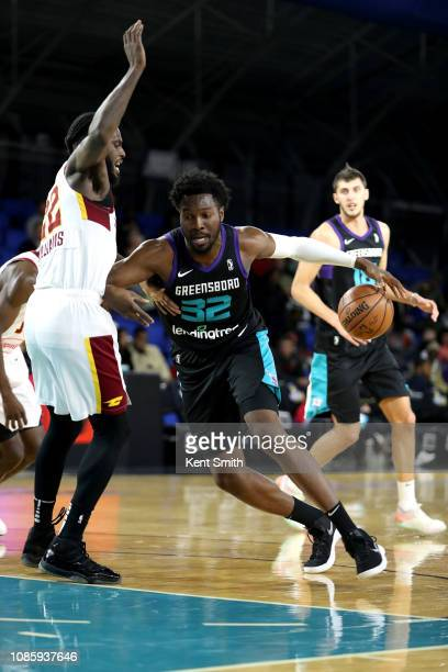 Chinanu Onuaku of the Greensboro Swarm handles the ball against the Canton Charge on January 21 2019 at Greensboro Coliseum Fieldhouse in Greensboro...