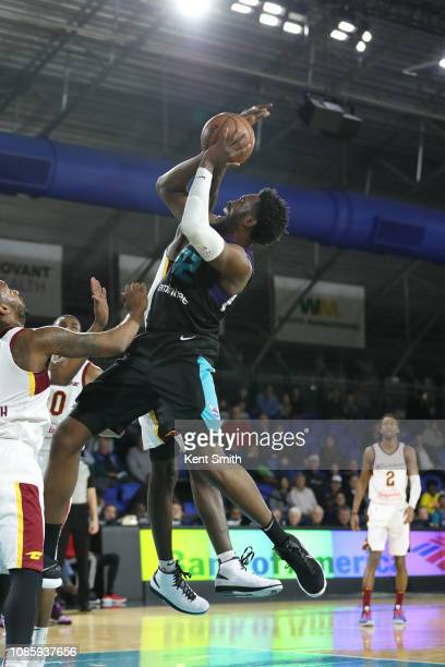 Chinanu Onuaku of the Greensboro Swarm shoots the ball against the Canton Charge on January 21 2019 at Greensboro Coliseum Fieldhouse in Greensboro...