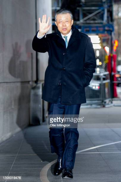 China's Ambassador to the United Kingdom Liu Xiaoming arrives at BBC Broadcast house to be interviewed on the Andrew Marr Sunday Morning BBC Politics...