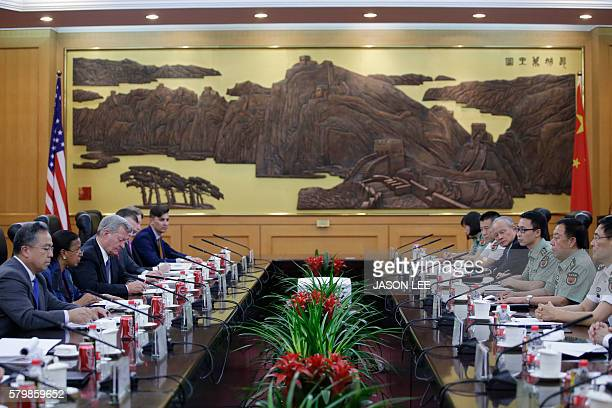 China's Central Military Commission Vice Chairman Fan Changlong and US National Security Adviser Susan Rice attend a meeting at the Bayi Building in...