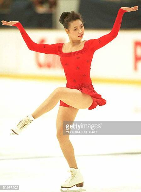 China's Chen Lu performs her free skating program at the NHK Trophy figure skating competition 11 December 1994 The 18yearold Chinese outpointed...