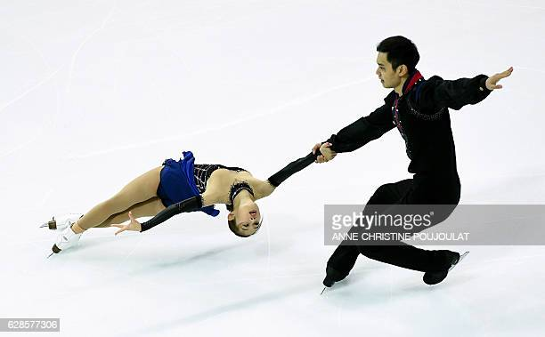 TOPSHOT China's Cheng Peng and Yang Jin compete in the senior pairs short program at the ISU Grand Prix of Figure Skating Final on December 8 2016 in...
