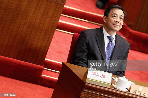 China's Chongqing Municipality Communist Party Secretary Bo Xilai attends the opening ceremony of the Chinese People's Political Consultative...
