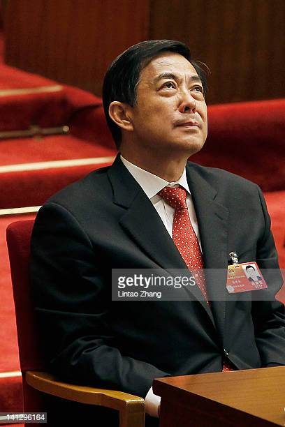 China's Chongqing Municipality Communist Party Secretary Bo Xilai attends the closing session of the National Peoples Congress at The Great Hall Of...