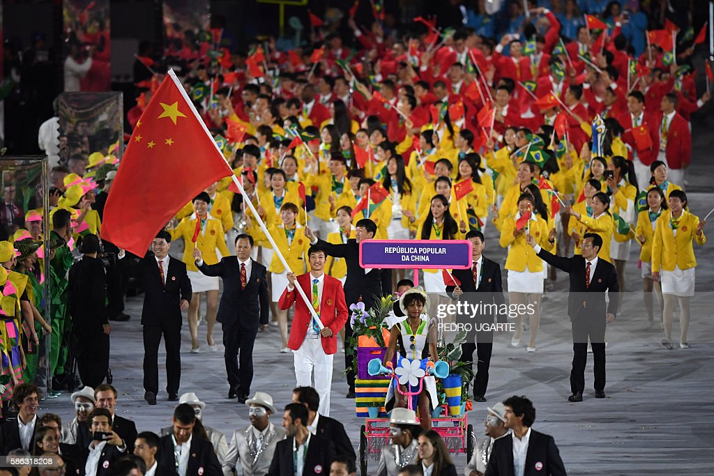OLY-2016-RIO-OPENING-DELEGATION : News Photo