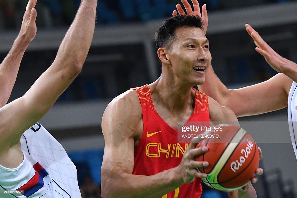 BASKETBALL-OLY-2016-RIO-SRB-CHN : News Photo