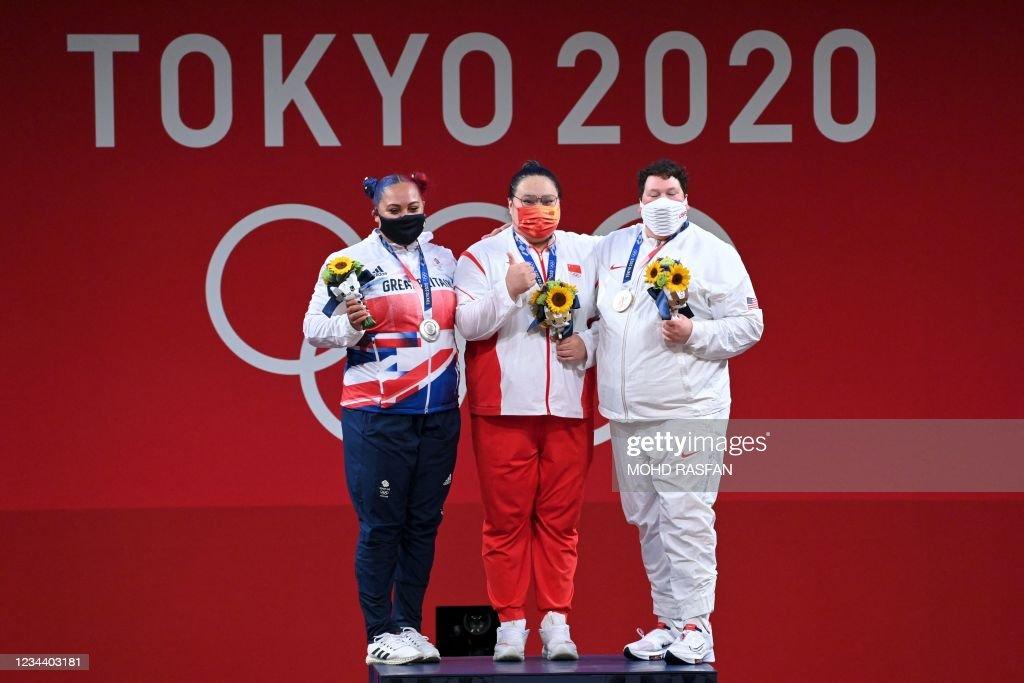 WEIGHTLIFTING-OLY-2020-2021-TOKYO-PODIUM : News Photo