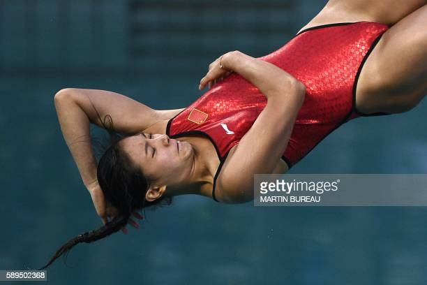 China's He Zi competes in the Women's 3m Springboard Final during the diving event at the Rio 2016 Olympic Games at the Maria Lenk Aquatics Stadium...