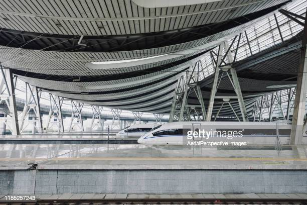 china's high speed rail train (or crh) in beijing - {{asset.href}} stock pictures, royalty-free photos & images
