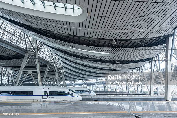 China's High Speed Rail Train (or CRH) in Beijing