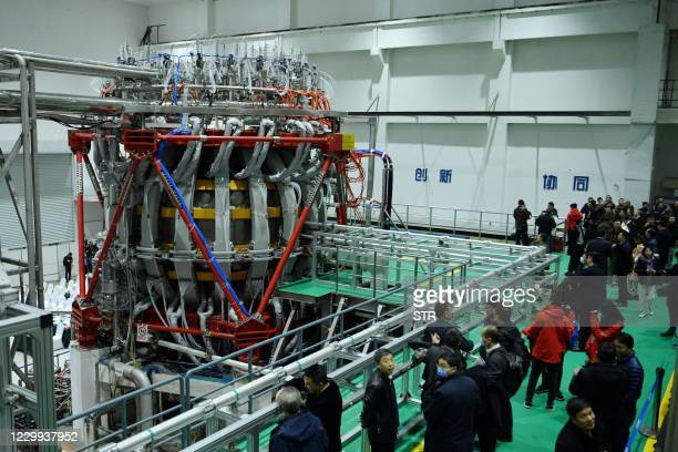 """Chinas HL-2M nuclear fusion device, known as the new generation of """"artificial sun"""", is displayed at a research laboratory in Chengdu, in eastern..."""