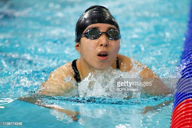 China's Jiabao Han in action during the women's multi-class 100 metres breaststroke World Series finals, during Day 3 of the 2019 British...