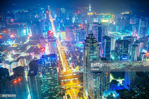 china's megacity shenzhen - shenzhen stock pictures, royalty-free photos & images