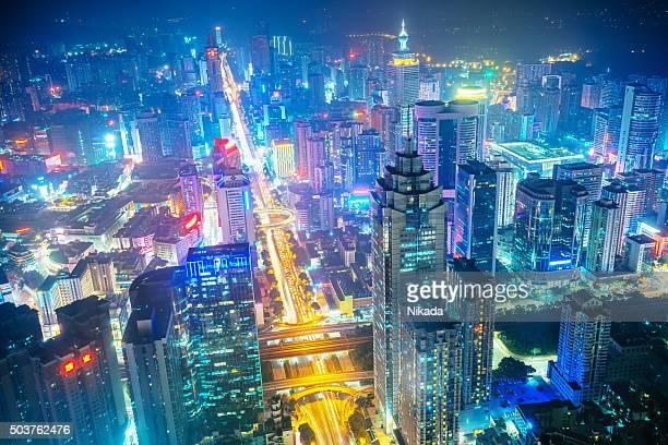 megacity da china, shenzhen - grande - fotografias e filmes do acervo