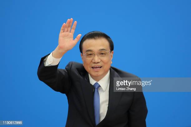 China's Premier Li Keqiang speaks during a news conference following the closing of the second session of the 13th National People's Congress at the...