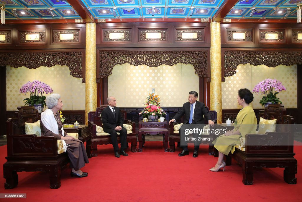 King of Cambodia Visits China
