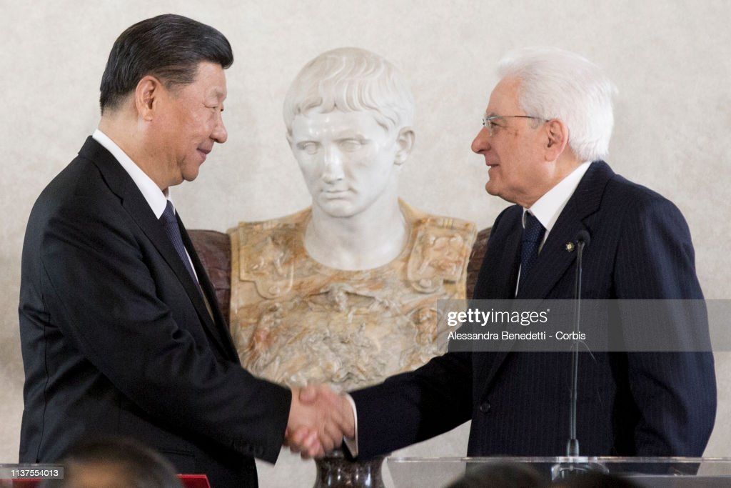 ITA: China's President Xi Attends A Business Forum At Quirinale Palace With President Mattarella