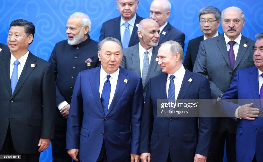 Shanghai Cooperation Organisation summit in Astana : News Photo