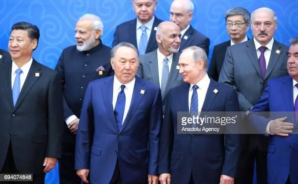 China's President Xi Jinping India's Prime Minister Narendra Modi Afghanistan's President Ashraf Ghani Ahmadzai Belarus' President Alexander...