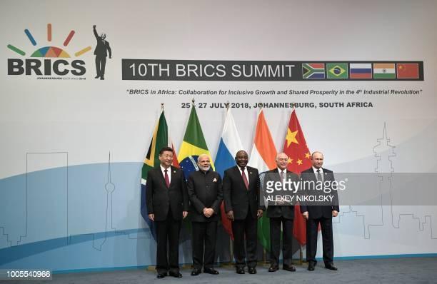 China's President Xi Jinping India's Prime Minister Narendra Modi South Africa's President Cyril Ramaphosa Brazil's President Michel Temer and...