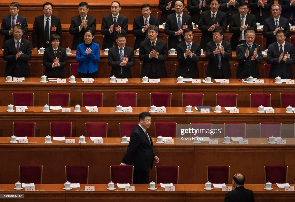 China's NPC Votes On The Draft Amendment To The Constitution Of People's Republic Of China