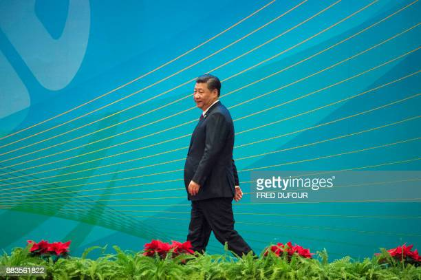 China's President Xi Jinping prepares to give a speech at the opening ceremony of a highlevel meeting held by the Communist Party of China at the...