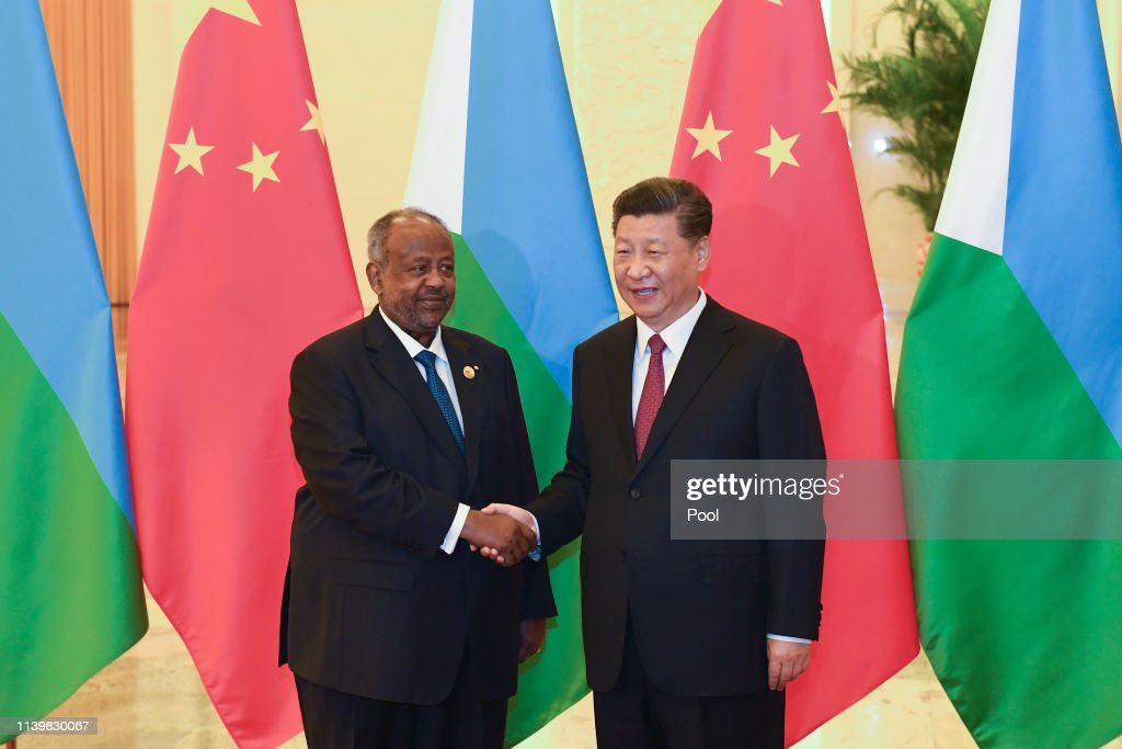 Djibouti's President Ismail Omar Guelleh Meets With China's President Xi Jinping : News Photo