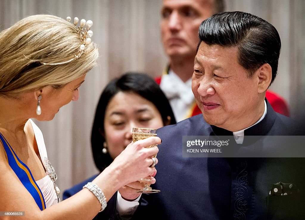 NETHERLANDS-CHINA-DIPLOMACY-ROYALS : News Photo
