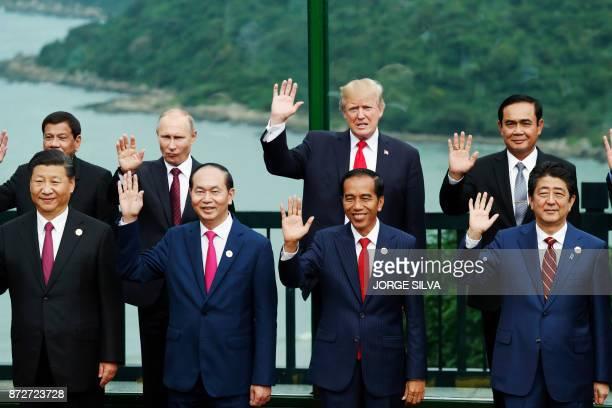 China's President Xi Jinping Vietnam's President Tran Dai Quang Indonesia's President Joko Widodo Japan's Prime Minister Shinzo Abe Philippine...