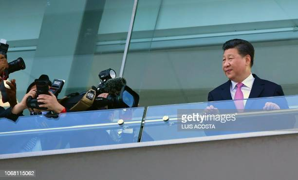 China's President Xi Jinping visits the Panama Canal in Cocoli Panama on December 3 2018 Chinese President Xi Jinping is on an official visit to...
