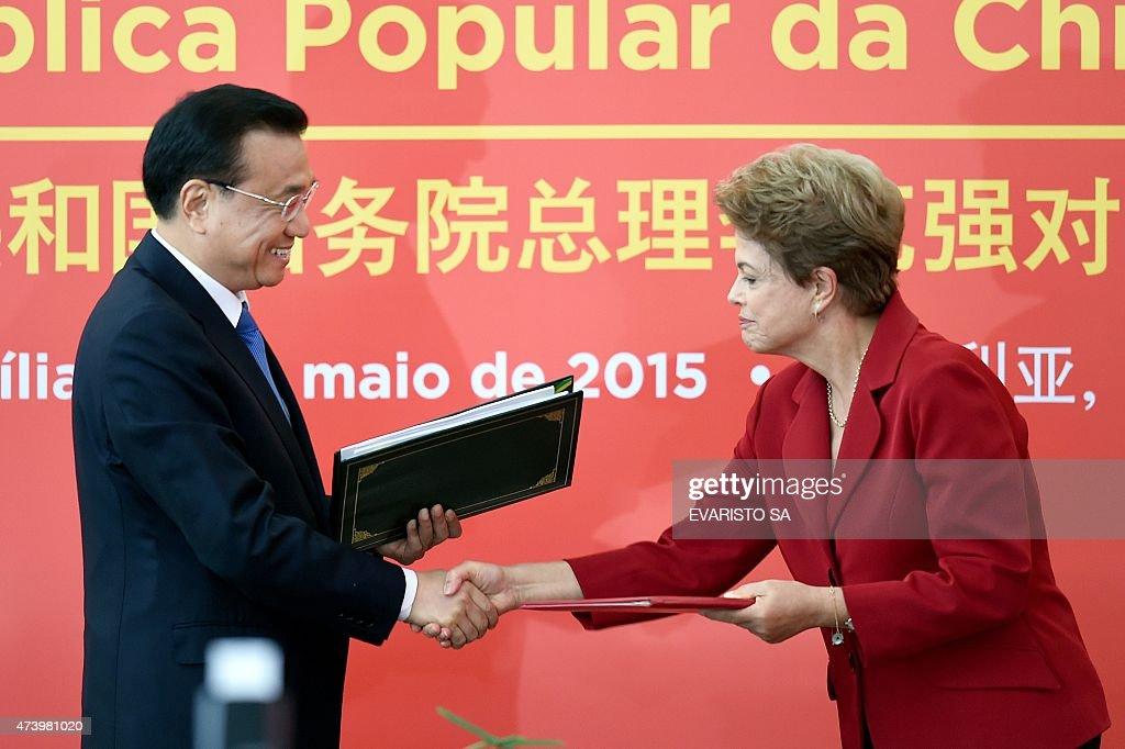 BRAZIL-CHINA-ROUSSEFF-LI KEQIANG : News Photo