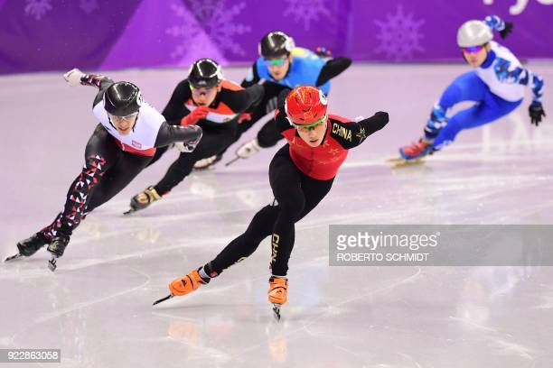China's Ren Ziwei leads followed by Poland's Bartosz Konopko Hungary's Sandor Liu Shaolin Kazakhstan's Denis Nikisha and Russia's Aleksandr Shulginov...