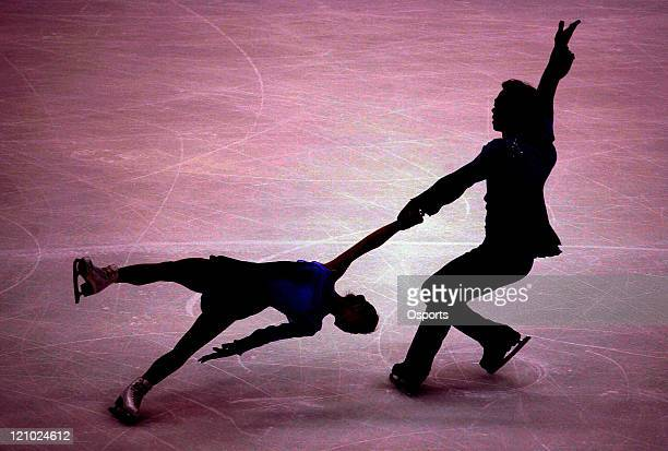 China's Shen Xue and Zhao Hongbo compete during the Pairs Free Skating event at the Sixth Asian Winter Game at Changchun China on February 3 2007