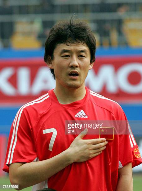 China's soccer team defender Sun Jihai, in Guangzhou, southern China's Guangdong province 24 March 2007. AFP PHOTO