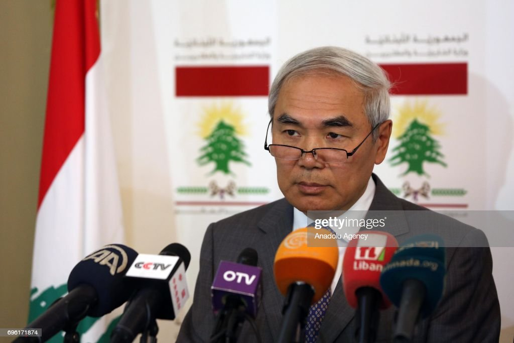 China's Special Envoy for Syria, Xie Xiaoyan in Lebanon : News Photo