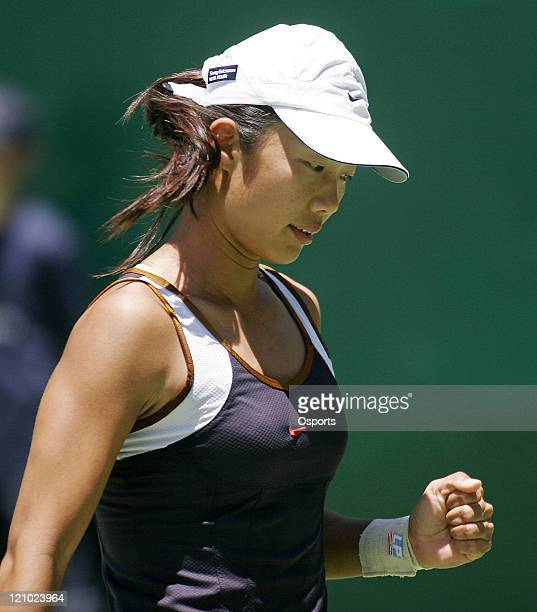 China's Sun TianTian against Argentina's Paola Suarez in round two of the WTA Tour ASB Classic Singles at ASB Tennis Centre, Suarez won the match...