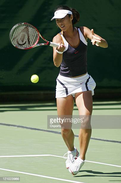 China's Sun TianTian in action with Sun Shengnan against Leanne Baker of New Zealand and Nicole Kriz of Australia in the WTA Tour ASB Classic second...