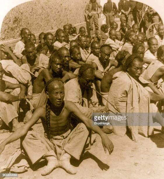 China's troublemakers 'Boxer' prisoners captured and brought in by 6th US Cavalry Tientsin China Boxer Rebellion also known as the Boxer Uprising or...