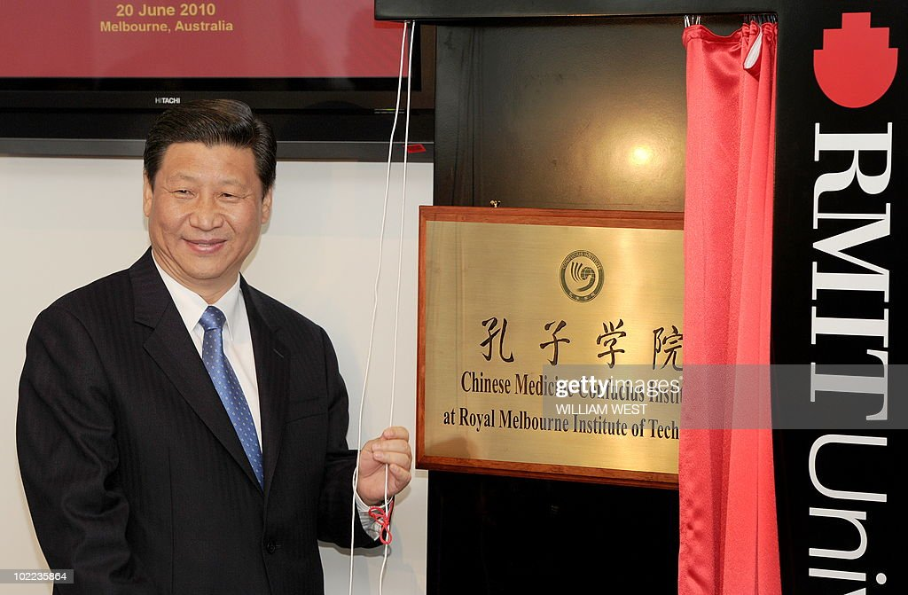 China's Vice President Xi Jinping unveil : News Photo