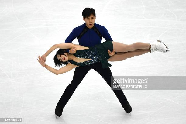 China's Wenjing Sui and Cong Han perform during the Pairs Free Skating program at the ISU Grand Prix of figure skating Final 2019 on December 6 2019...