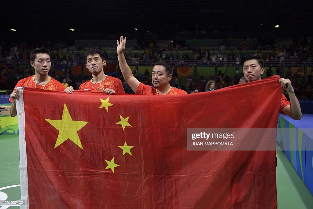 TABLE TENNIS-OLY-2016-RIO-CHN-JPN : News Photo