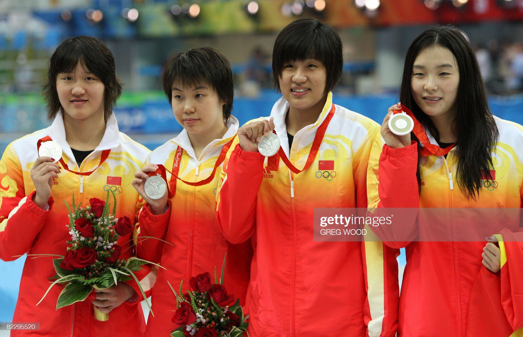 China's Yang Yu (R),  Zhu Qianwei (L), T : Fotografía de noticias