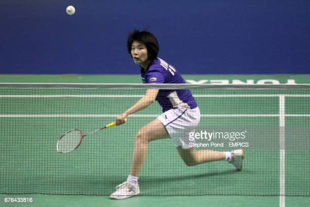 China's Yanjiao Jiang in action against Malaysia's Mew Choo Wong