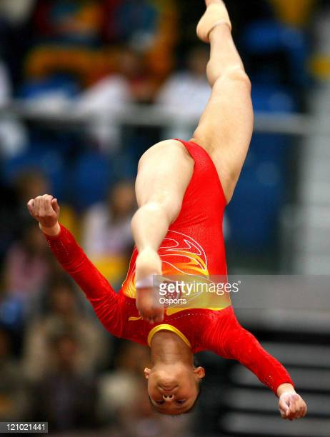 China's Zhang Nan during the Women's Artistic Gymnastics Team Final and Individual Qualiification at the 15th Asian Games in Doha Qatar on December 3...
