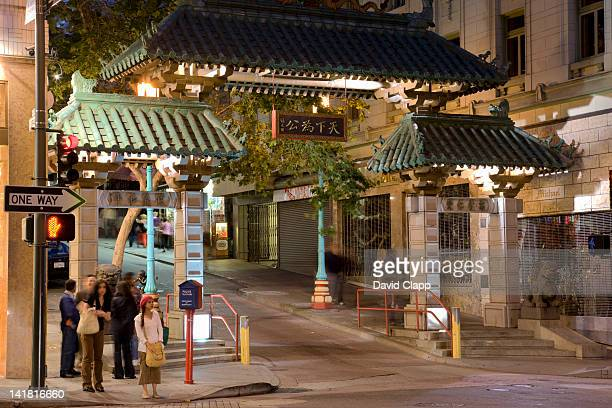 Chinatown at dusk in San Francisco, California, United States of America, North America