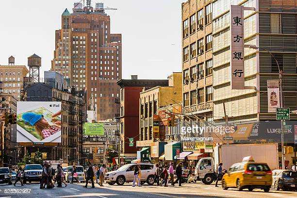 chinatown, canal street - canal street manhattan stock pictures, royalty-free photos & images