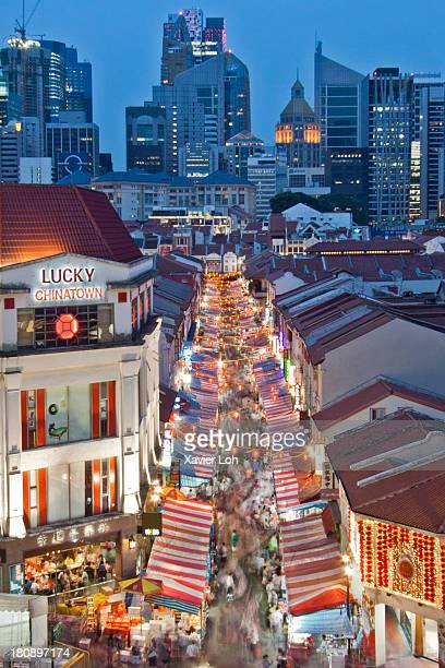 chinatown during chinese new year - chinatown stock photos and pictures
